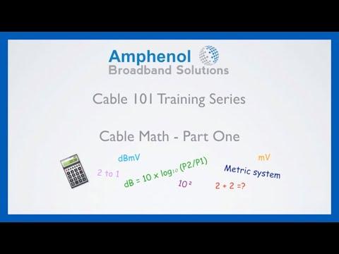 Cable Math: Part 1