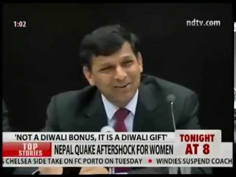 """""""My name is Raghuram Rajan and I do what I do."""" RBI Repo Rate Cut Conference.  Funny QA"""