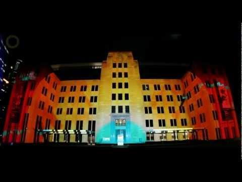 Vivid Sydney 2012 - Museum of Contemporary Art (MCA) light projection
