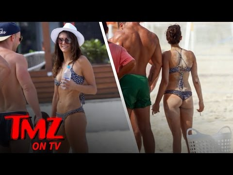 Nina Dobrev Chugs Vodka On The Beach! | TMZ TV