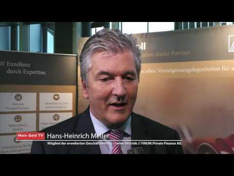 """FINUM Private Finance AG: Hans-Heinrich Meller zum Thema """"Neue Geschäftsfelder beim Private Banking"""""""