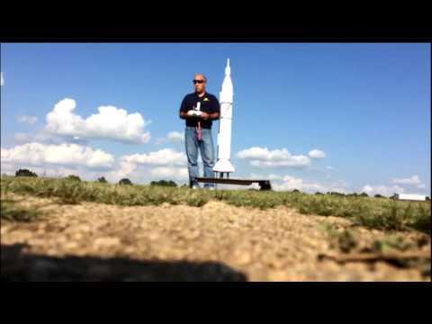 Juno I homemade model rocket launch 001 on August 11, 2017