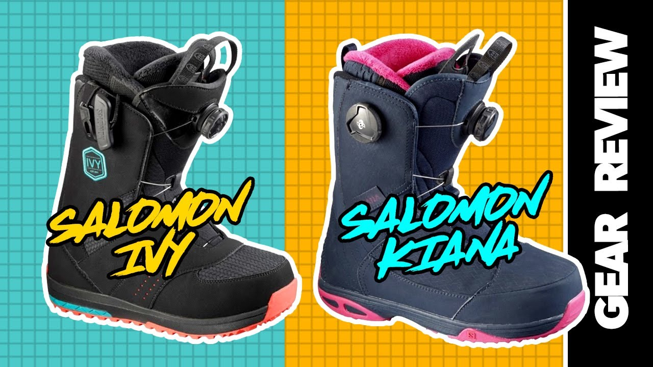 2017 Salomon Kiana And Ivy Womens Snowboard Boots Review