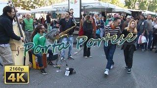 Mercato di Porta Portese with EtruSka Jazz, Roma - Italy 4K Travel Channel