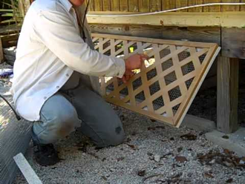 DIY Mobile home skirting design -- critter proof! - YouTube