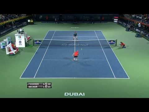 Roger Federer 'Tweener Hot Shot Dubai 2014