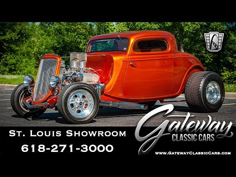 1934 Ford 3 Window Coupe  Gateway Classic Cars St. Louis  #8136