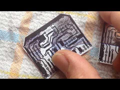 Easy DIY PCB etching using glossy magazine paper & laser printer