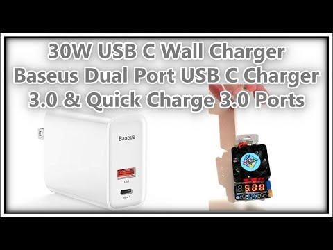 30w-usb-c-wall-charger,-baseus-dual-port-usb-c-charger-with-quick-charge-qc-3.0-full-review