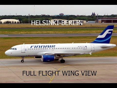 FSX HD A319 Helsinki To Berlin Tegel Full Flight Passenger Wing View