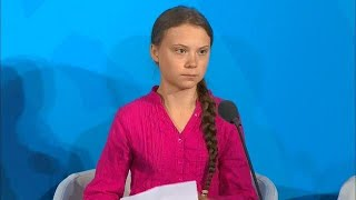 Greta Thunberg  Young Climate Activist  At The Climate Action Summit 2019 -