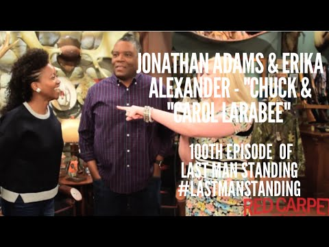 Erika Alexander & Jonathan Adams at 100th Episode Celebration of ‎LastManStanding with Cast on Set