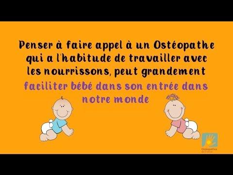 Faire appel à un ostéopathe peut aider grandement votre bébé