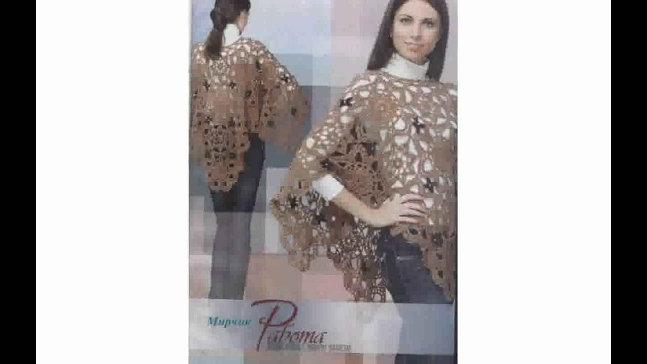 Free Crochet Patterns Plus Size Ponchos : Free Poncho Crochet Patterns - thimborada - YouTube