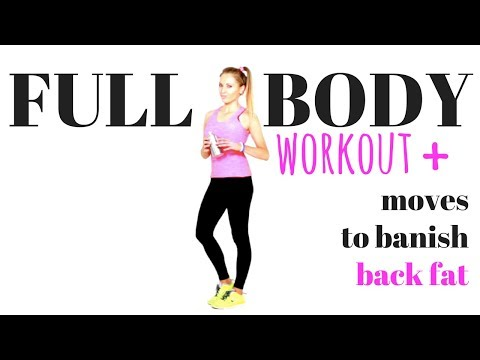 FULL BODY WORKOUT - CARDIO BURNING HOME WORKOUT - with toning moves to help get rid of back fat