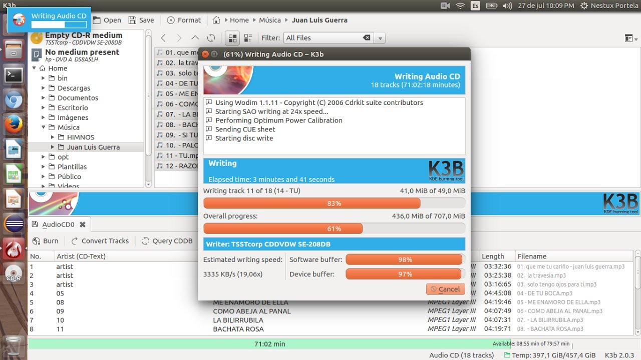 Crear un CD de audio con K3b e...