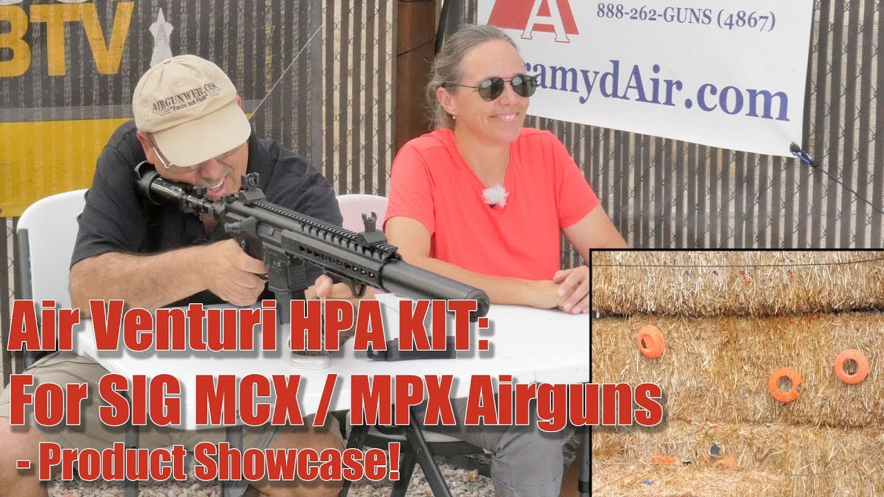 SIG MCX Airgun on Air Venturi Regulated High Pressure Air (HPA) System -  Airgun Review by AirgunWeb