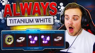 TRADING UP ALL OF MY GOLDEN EGG ITEMS IN ROCKET LEAGUE!