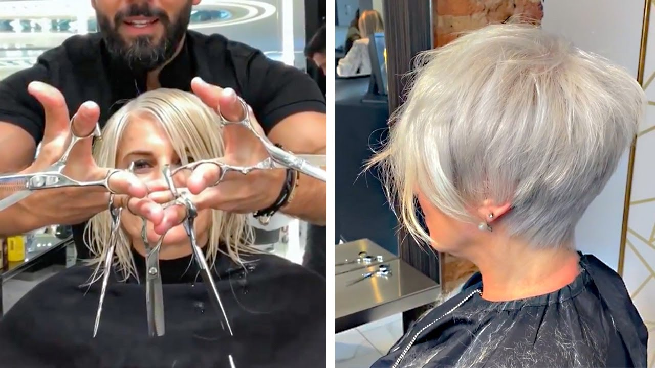 14 New Hairstyles For Women On 2020 Short Bob Pixie Cut Tutorial Compilation Hair Trendy Grwm Youtube