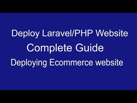 Deploy Laravel/Php website