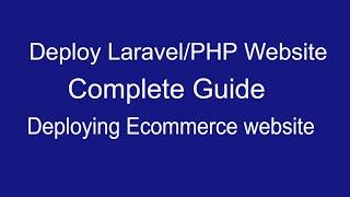 Deploy Laravel/Php website using digital ocean: The Complete Guide