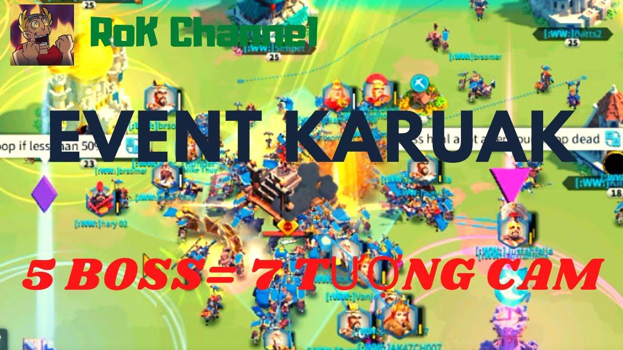 Event đánh boss karuak lấy tượng cam trong Rise of Kingdoms