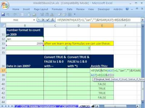 Highline Excel Class 27: Custom Number Format & TEXT function