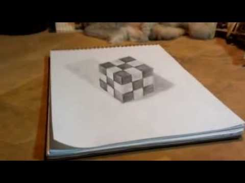 pencil drawing illusion