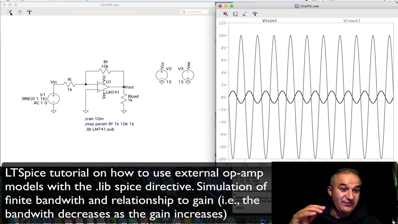 Ltspice Using External Models Modelling Real Opamps Youtube While This Is Not A Detailed As Something Like Which Very