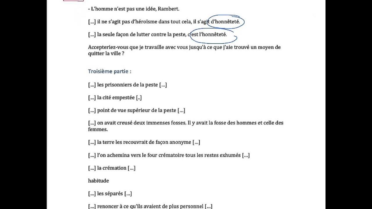 Citations Clés Sur La Peste De Camus