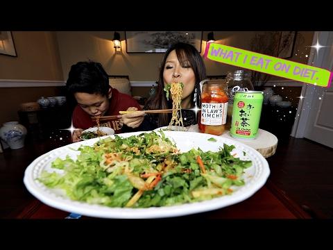 COLD RAMEN NOODLE Mukbang & Recipe (비빔면 Bibimmyeon)