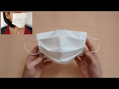 how-to-make-disposable-face-mask-from-paper-towel-in-just-5-minutes-|-maison-zizou