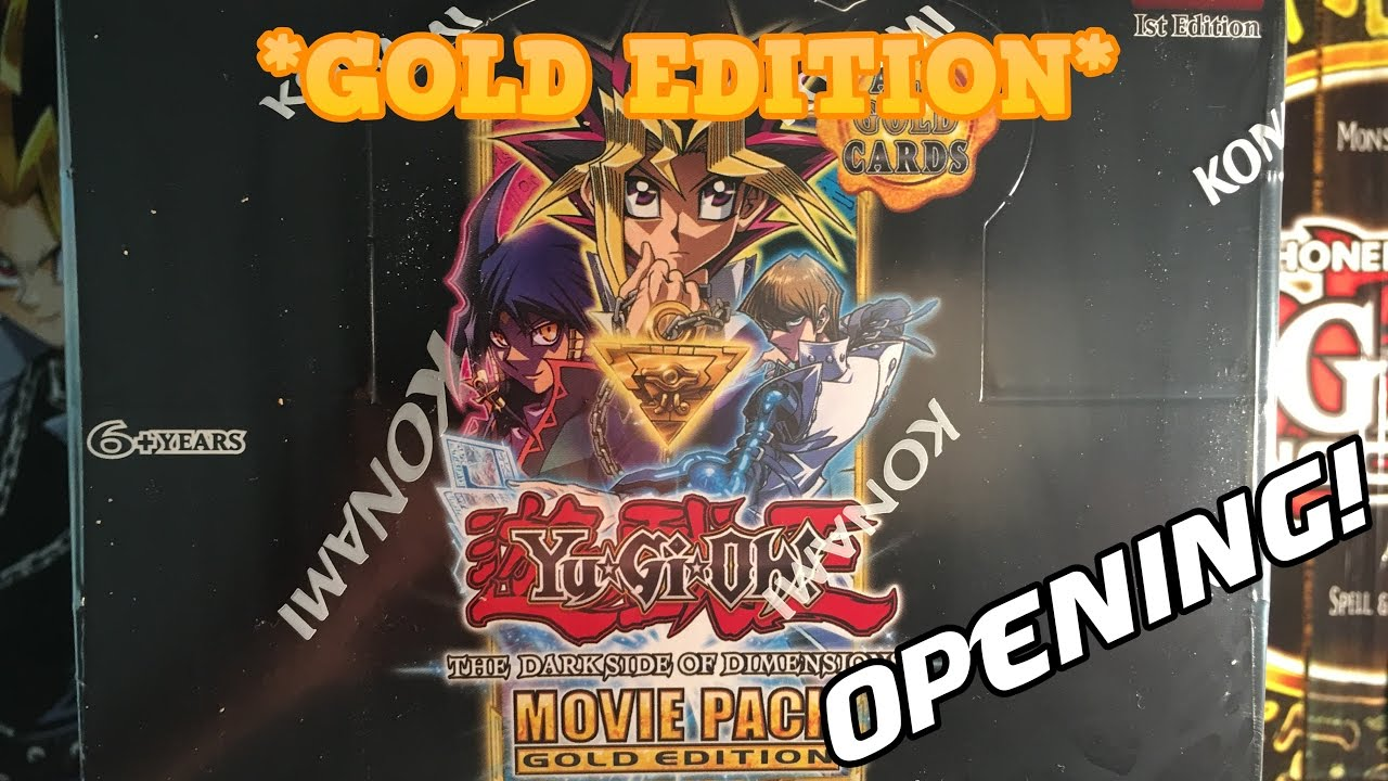 Yugioh New Dark Side Of Dimensions Movie Pack Gold