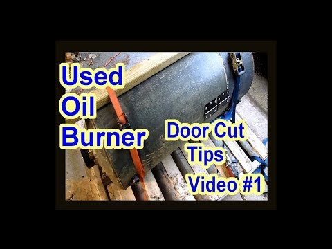 DIY Waste Used Motor Oil Burner Heater Furnace - No Welding - Gas Water Heater - Video 1