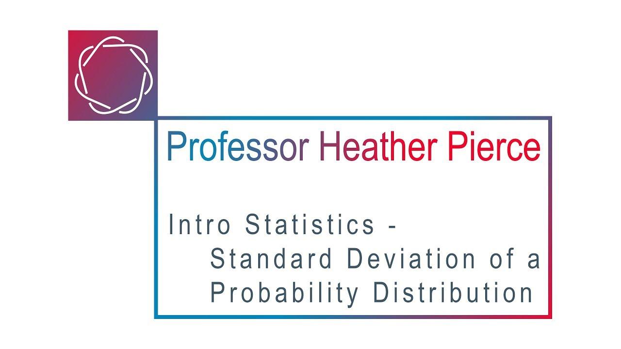 Standard Deviation of a Probability Distribution