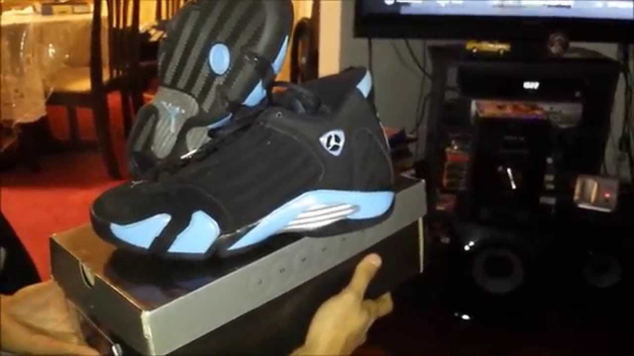 check out 2dbd6 6a055 2005 Air Jordan Black University Blue Sliver 14s on feet look -  AnAsianBr0skii