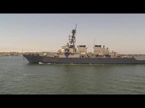 USS Milius (DDG69), Outbound, San Diego Bay