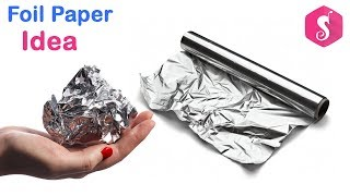 Foil Paper Idea   Make SUN Wall Frame from Aluminium FOIL Wall Decor   Best Out Of Waste