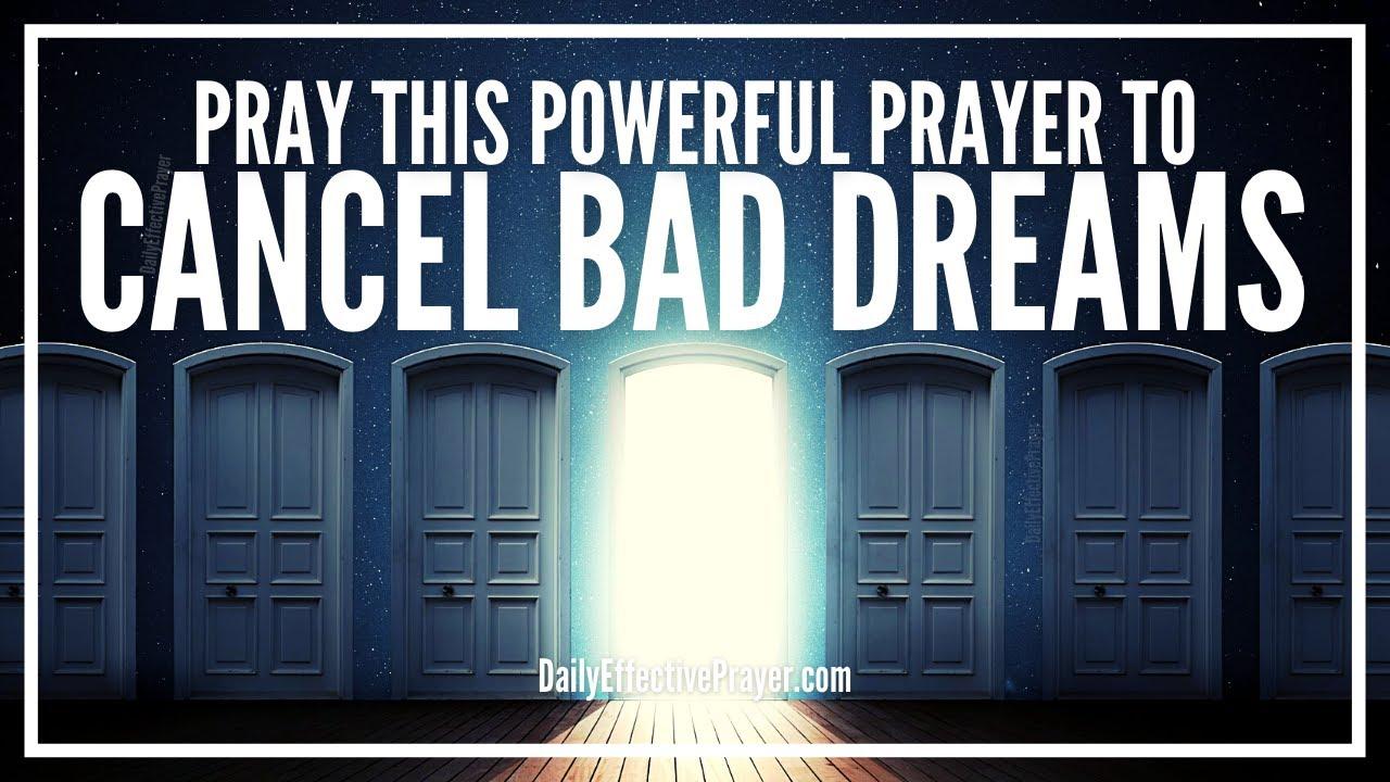 Prayer To Cancel Bad Dreams | Prayers Against Evil Dreams