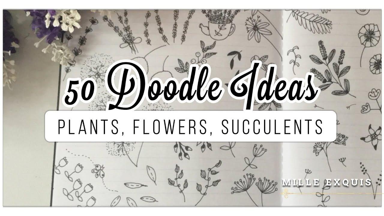20 Bullet Journal Doodle Ideas   BEST EASY Plants, Flowers, Cacti &  Succulents