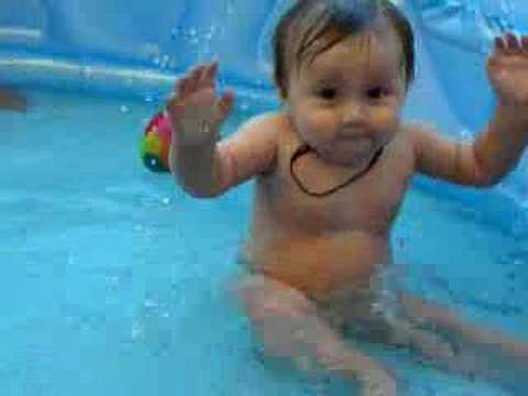 Baby Video Funny Baby Cute Baby Video Baby In A Pool Youtube