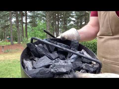 Lighting Pit Barrel Junior With Royal Oak Lump Charcoal (and Shenanigans)