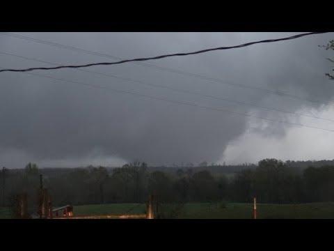 MASSIVE wedge tornado in southwest Arkansas near Umpire; April 13, 2018!