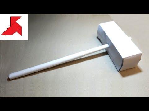 DIY ⚒️ - Как сделать ДВУРУЧНЫЙ МОЛОТ из бумаги а4 своими руками?