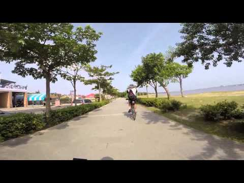 Bike around Taiwan - Bali Left Bank Bike Path. New Taipei City.