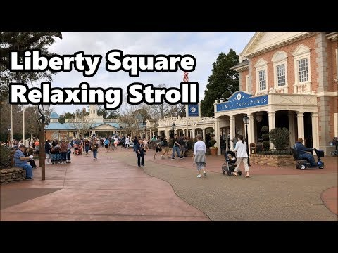 Liberty Square Relaxing Stroll | Magic Kingdom | Walt Disney World