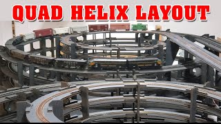 QUADZILLA - 4 Helix Display Layout - HO and N Scale
