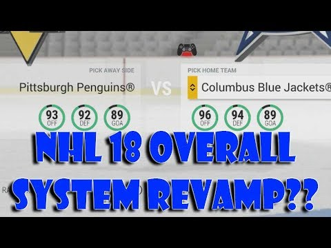 NHL 18 Overall System Revamp????
