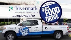 Rivermark loads the KGW Great Food Drive truck with donations