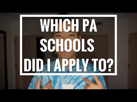 Pre-PA | Which PA Schools Did I Apply To?